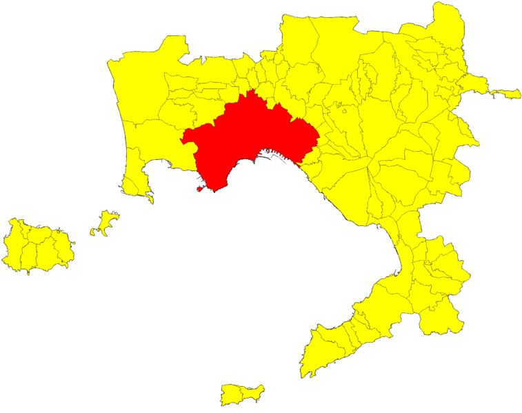 File:Location of the Municipality of Naples in the homonymous province.png