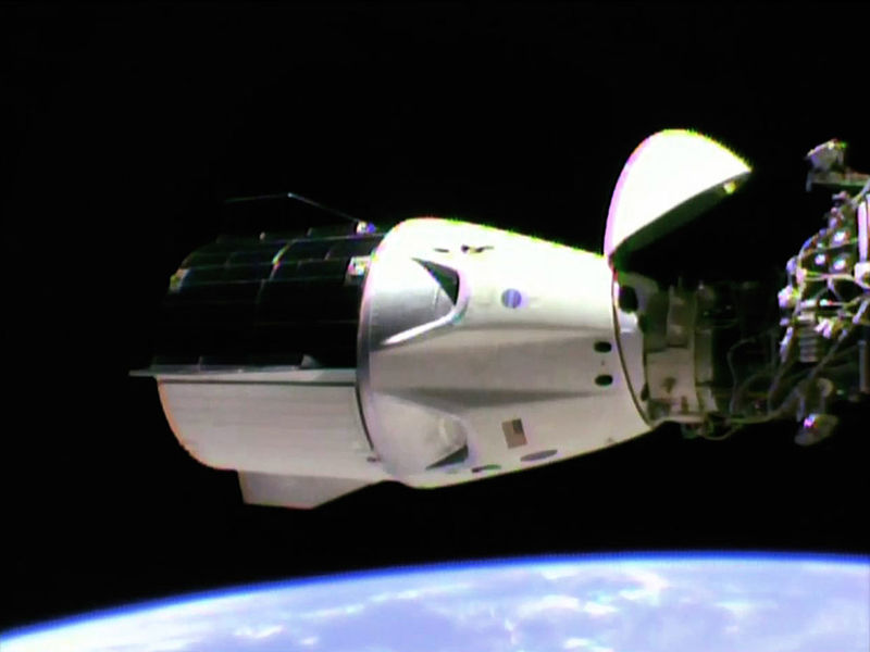 File:SpaceX Crew Dragon Demo-1 Successfully Docks to Station.jpg