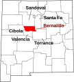 Map of New Mexico highlighting Bernalillo County svg.png