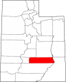 Map of Utah highlighting Wayne County svg.png