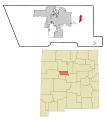 Bernalillo County New Mexico Incorporated and Unincorporated areas Cedar Crest Highlighted svg.png