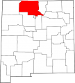 Map of New Mexico highlighting Rio Arriba County svg.png